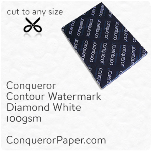 PAPER - CONTOUR.42613, TINT:DiamondWhite, FINISH:Contour, PAPER:100gsm, SIZE:450x640mm, QUANTITY:500Sheets, WATERMARK:Yes