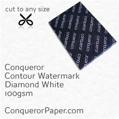 PAPER - CONTOUR.42613, TINT:DiamondWhite, FINISH:Contour, PAPER:100gsm, SIZE:450x640mm, QUANTITY:500Sheets, WATERMARK:Yes