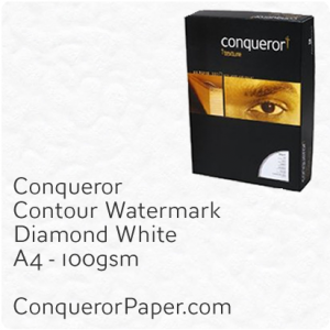 PAPER - CONTOUR.42613C, TINT:DiamondWhite, FINISH:Contour, PAPER:100gsm, SIZE:A4-210x297mm, QUANTITY:500Sheets, WATERMARK:Yes