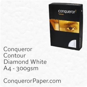 PAPER - CONTOUR.42619C, TINT:DiamondWhite, FINISH:Contour, PAPER:300gsm, SIZE:A4-210x297mm, QUANTITY:100Sheets, WATERMARK:No