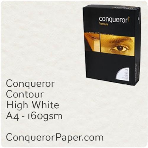 PAPER - CONTOUR.97108C, TINT:HighWhite, FINISH:Contour, PAPER:160gsm, SIZE:A4-210x297mm, QUANTITY:150Sheets, WATERMARK:No