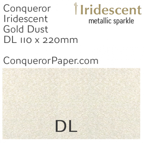 ENVELOPES - IRIDESCENT.3035, TINT=GoldDust, TYPE=Wallet, QUANTITY=500, SIZE:DL-110x220mm