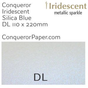 ENVELOPES - IRIDESCENT.3038, TINT=SilicaBlue, TYPE=Wallet, QUANTITY=500, SIZE=DL-110x220mm