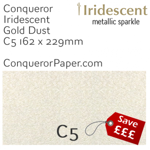 ENVELOPES - IRIDESCENT.3040, TINT=GoldDust, TYPE=Wallet, QUANTITY=250, SIZE=C5-162x229mm