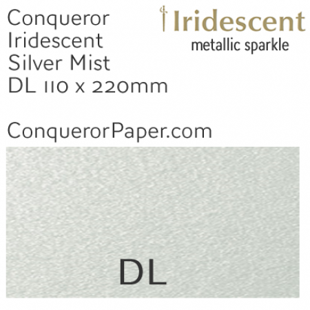 ENVELOPES - IRIDESCENT.38556, TINT=SilverMist, TYPE=Wallet, QUANTITY=500, SIZE=DL-110x220mm
