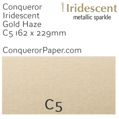 ENVELOPES - IRIDESCENT.38557, TINT=GoldenHaze, TYPE=Wallet, QUANTITY=250, SIZE=C5-162x229mm