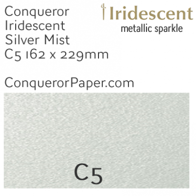 ENVELOPES - IRIDESCENT.38559, TINT=SilverMist, TYPE=Wallet, QUANTITY=250, SIZE=C5-162x229mm