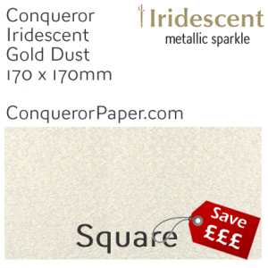 ENVELOPES - IRIDESCENT.83585, TINT=GoldDust, TYPE=Wallet, QUANTITY=500, SIZE=170x170mm