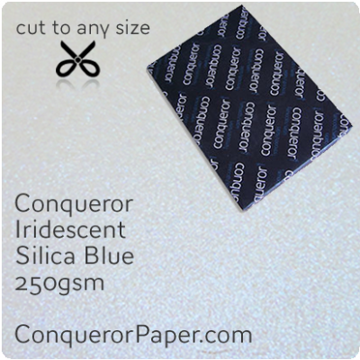 PAPER - IRIDESCENT.97029, TINT:SilicaBlue, FINISH:Iridescent, PAPER:250gsm, SIZE:700x1000mm, QUANTITY:100Sheets, WATERMARKED:No