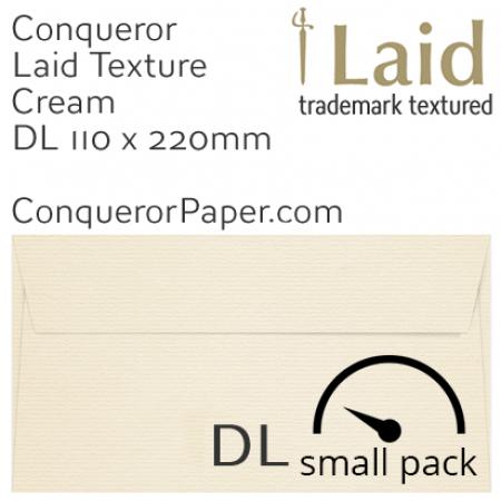 ENVELOPES - Laid.01003SP, WINDOW=No, TYPE=Wallet, TINT=Cream, SIZE=DL-110x220mm, QUANTITY=50