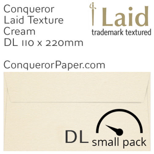 ENVELOPES - Laid.01003SP, WINDOW=No, TYPE=Wallet, TINT=Cream, SIZE=DL-110x220mm, QUANTITY=50