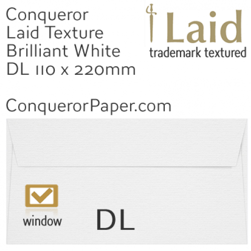 SAMPLE - Laid.01009, WINDOW=Yes, TYPE=Wallet, TINT=BrilliantWhite, SIZE=DL-110x220mm