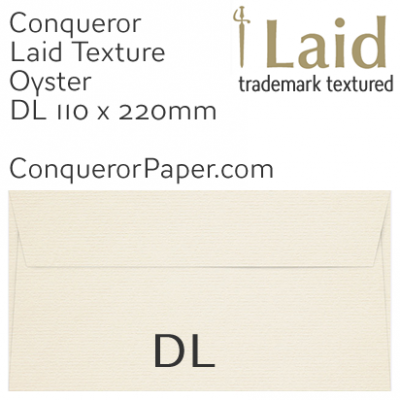 ENVELOPES - Laid.01022, WINDOW=No, TYPE=Wallet, TINT=Oyster, SIZE=DL-110x220mm, QUANTITY=500