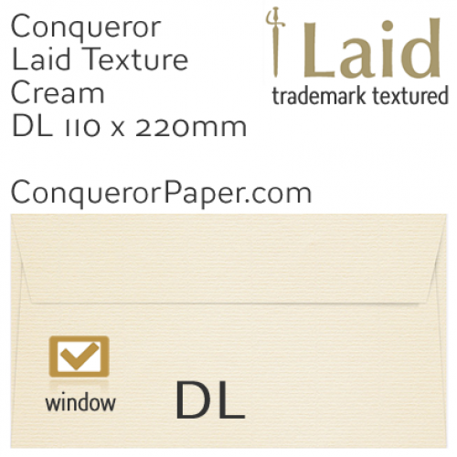 SAMPLE - Laid.01060, WINDOW=Yes, TYPE=Wallet, TINT=Cream, SIZE=DL-110x220mm, QUANTITY=1