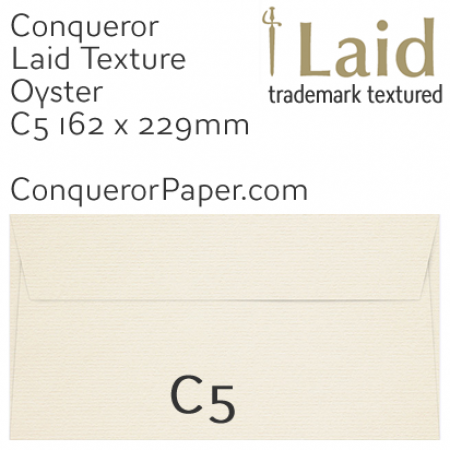 ENVELOPES - Laid.01092, TINT=Oyster, WINDOW=No, TYPE=Wallet, SIZE=C5-162x229mm, QUANTITY=250