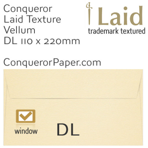 SAMPLE - Laid.01123, WINDOW=Yes, TYPE=Wallet, TINT=Vellum, SIZE=DL-110x220mm, QUANTITY=1