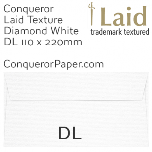 SAMPLE - Laid.01250, Conqueror, WINDOW=No, TYPE=Wallet, TINT=DiamondWhite, DL-110x220mm, QUANTITY=1