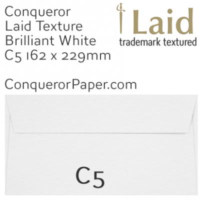 SAMPLE - Laid.01261, WINDOW=No, TYPE=Wallet, TINT=BrilliantWhite, SIZE:C5-162x229mm, QUANTITY=1