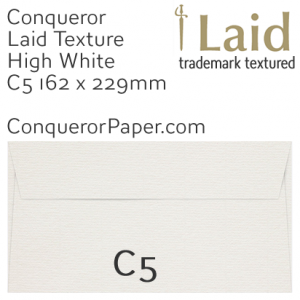 ENVELOPES - Laid.01262, WINDOW=No, TYPE=Wallet, TINT=HighWhite, SIZE=C5-162x229mm, QUANTITY=250