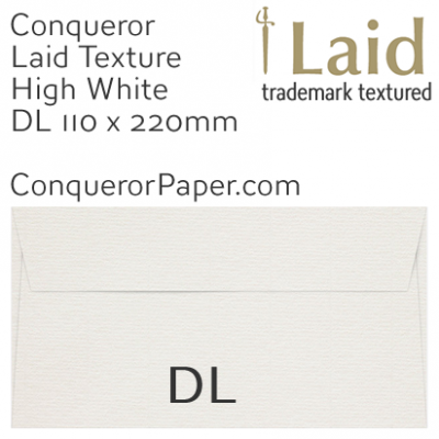 ENVELOPES - Laid.01440, WINDOW=No, TYPE=Wallet, TINT=HighWhite, SIZE=DL-110x220mm, QUANTITY=500