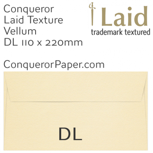 ENVELOPES - Laid.01453, WINDOW=No, TYPE=Wallet, TINT=Vellum, SIZE=DL-110x220mm, QUANTITY=500