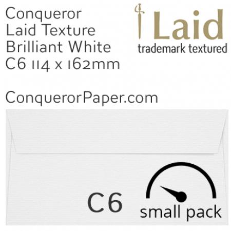 ENVELOPES - Laid.01501SP, WINDOW=No, TYPE=Wallet, TINT=BrilliantWhite, SIZE=C6-114x162mm, QUANTITY=50