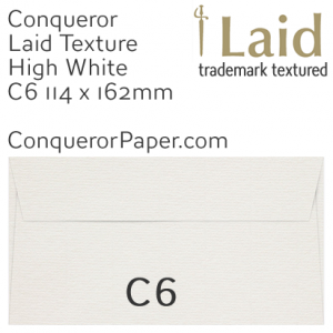 ENVELOPES - Laid.01502, WINDOW=No, TYPE=Wallet, TINT=HighWhite, SIZE=C6-114x162mm, QUANTITY=500