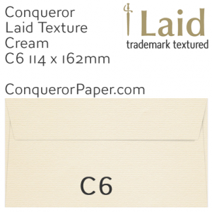 SAMPLE - Laid.01504, WINDOW=No, TYPE=Wallet, TINT=Cream, SIZE=C6-114x162, QUANTITY=1