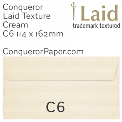 ENVELOPES - Laid.01504, WINDOW=No, TYPE=Wallet, TINT=Cream, SIZE=C6-114x162, QUANTITY=500