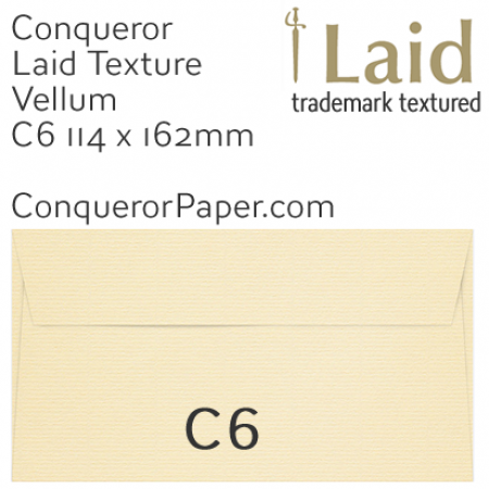 ENVELOPES - Laid.01505, WINDOW=No, TYPE=Wallet, TINT=Vellum, C6-114x162mm, QUANTITY=500