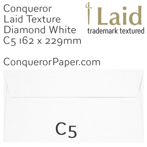 ENVELOPES - Laid.01539, WINDOW=No, TYPE=Wallet, TINT=DiamondWhite, C5-162x229mm, QUANTITY=250