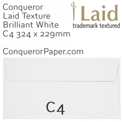 ENVELOPES - Laid.01861, TINT=BrilliantWhite, WINDOW=No, TYPE=Wallet, SIZE:C4-229x324mm, QUANTITY=250