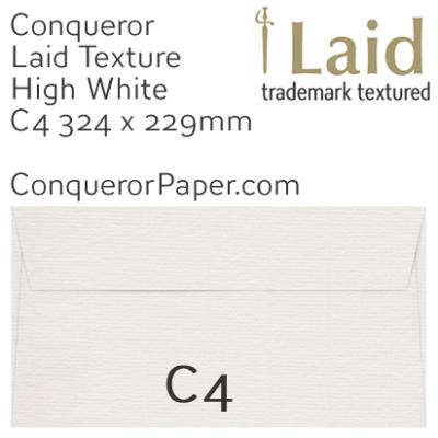 ENVELOPES - Laid.01864, TINT=HighWhite, WINDOW=No, TYPE=Wallet, SIZE=C4-324x229mm, QUANTITY=250