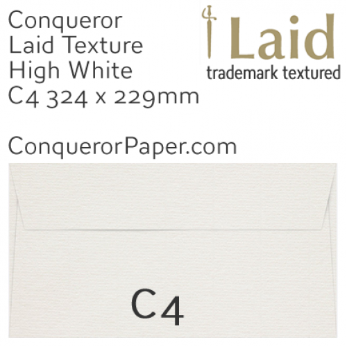 ENVELOPES - Laid.01864, TINT=HighWhite, WINDOW=No, TYPE=Wallet, SIZE=C4-324x229mm, QUANTITY=250