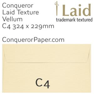 ENVELOPES - Laid.01869, TINT=Vellum, WINDOW=No, TYPE=Wallet, SIZE=C4-324x229mm, QUANTITY=250