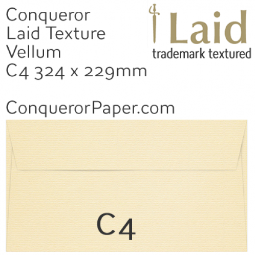 ENVELOPES - Laid.01869, TINT=Vellum, WINDOW=No, TYPE=Wallet, SIZE=C4-324x229mm, QUANTITY=250