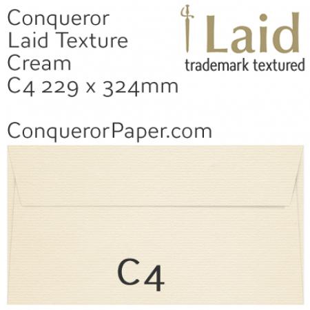 ENVELOPES - Laid.02617, TINT=Cream, WINDOW=No, TYPE=Pocket, SIZE=C4-229x324mm, QUANTITY=250