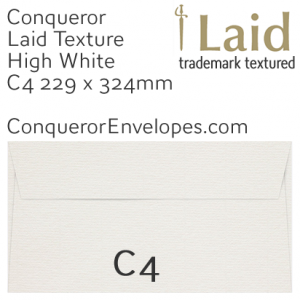 ENVELOPES - Laid.02650, TINT=HighWhite, WINDOW=No, SIZE=C4-229x324mm, TYPE=Pocket, QUANTITY=250