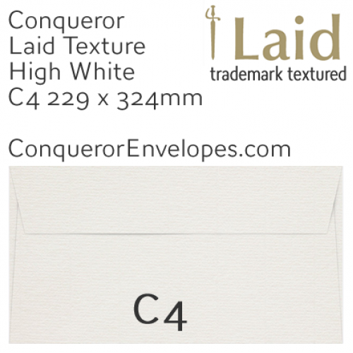 ENVELOPES - Laid.02650, TINT=HighWhite, WINDOW=No, SIZE=C4-229x324mm, TYPE=Pocket, QUANTITY=250