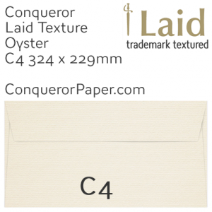 ENVELOPES - Laid.03026, TINT=Oyster, WINDOW=No, TYPE=Wallet, SIZE=C4-324x229mm, QUANTITY=250