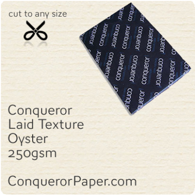 PAPER - Laid.10299, TINT:Oyster, FINISH:Laid, PAPER:250gsm, SIZE:SRA2 - 450x640mm, QTY:100Sheets, WATERMARK:No