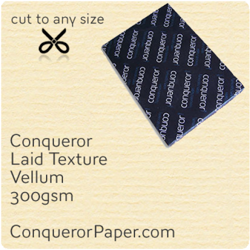 PAPER - Laid.10319, TINT:Vellum, FINISH:Laid, PAPER:300gsm, SIZE:SRA2 - 450x640mm, QTY:100Sheets, WATERMARK:No