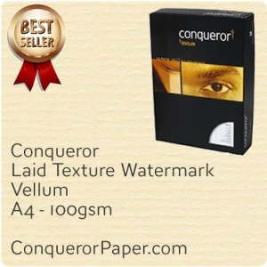 PAPER - Laid.20261, TINT:Vellum, FINISH:Laid, PAPER:100gsm, SIZE:A4-210x297mm, QTY:500Sheets, WATERMARK:Yes