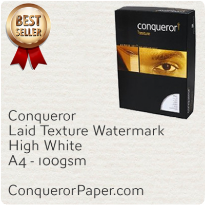 PAPER - Laid.25514, TINT:HighWhite, FINISH:Laid, PAPER:100gsm, SIZE:A4-210x297mm, QTY:500Sheets, WATERMARK:Yes