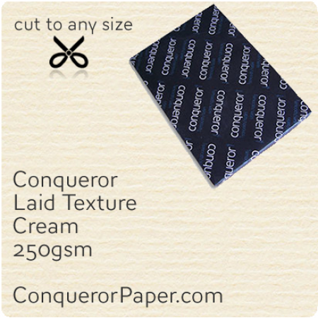 PAPER - Laid.42578, TINT:Cream, FINISH:Laid, PAPER:250gsm, SIZE:SRA2 - 450x640mm, QTY:100Sheets, WATERMARK:No