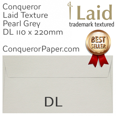 ENVELOPES - Laid.46855, WINDOW=No, TYPE=Wallet, TINT=Pearl Grey, SIZE=DL-110x220mm, QUANTITY=500