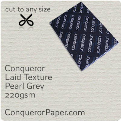 PAPER - Laid.64012, TINT:Pearl Grey, FINISH:Laid, PAPER:220gsm, SIZE:B1-700x1000mm, QTY:100Sheets, WATERMARKED:No