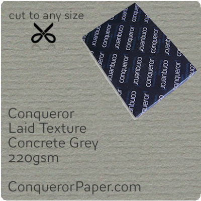 PAPER - Laid.64013, TINT:Concrete Grey, FINISH:Laid, PAPER:220gsm, SIZE:B1-700x1000mm, QTY:100Sheets, WATERMARKED:No