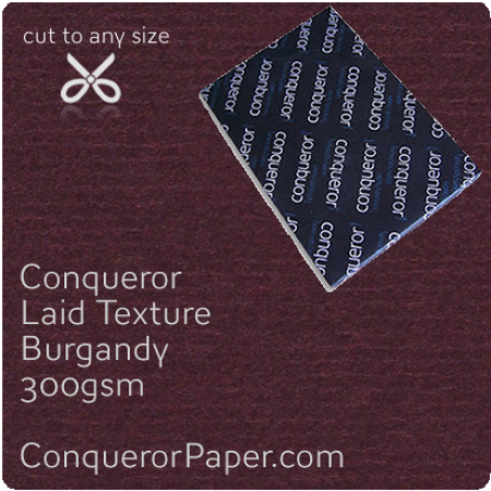 PAPER - Laid.64020, TINT:Burgandy, FINISH:Laid, PAPER:300gsm, SIZE:B1-700x1000mm, QTY:100Sheets, WATERMARKED:No