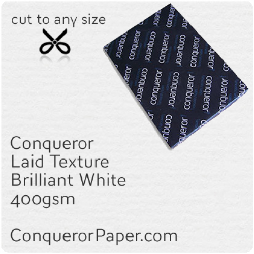 PAPER - Laid.64024, TINT:BrilliantWhite, FINISH:Laid, PAPER:400gsm, SIZE:B1 - 700x1000mm, QTY:50Sheets, WATERMARK:No